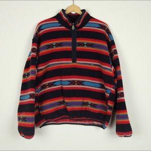 Vintage 90s Woolrich Navajo 1/2 Zip Fleece Large